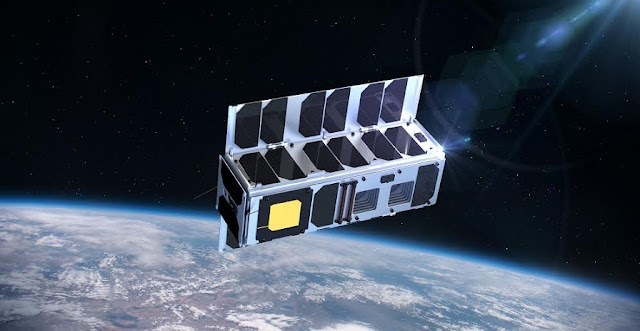 Artist's rendering of the ESTCube-2 in space. Image credit: ESTCube/Taavi Torim.