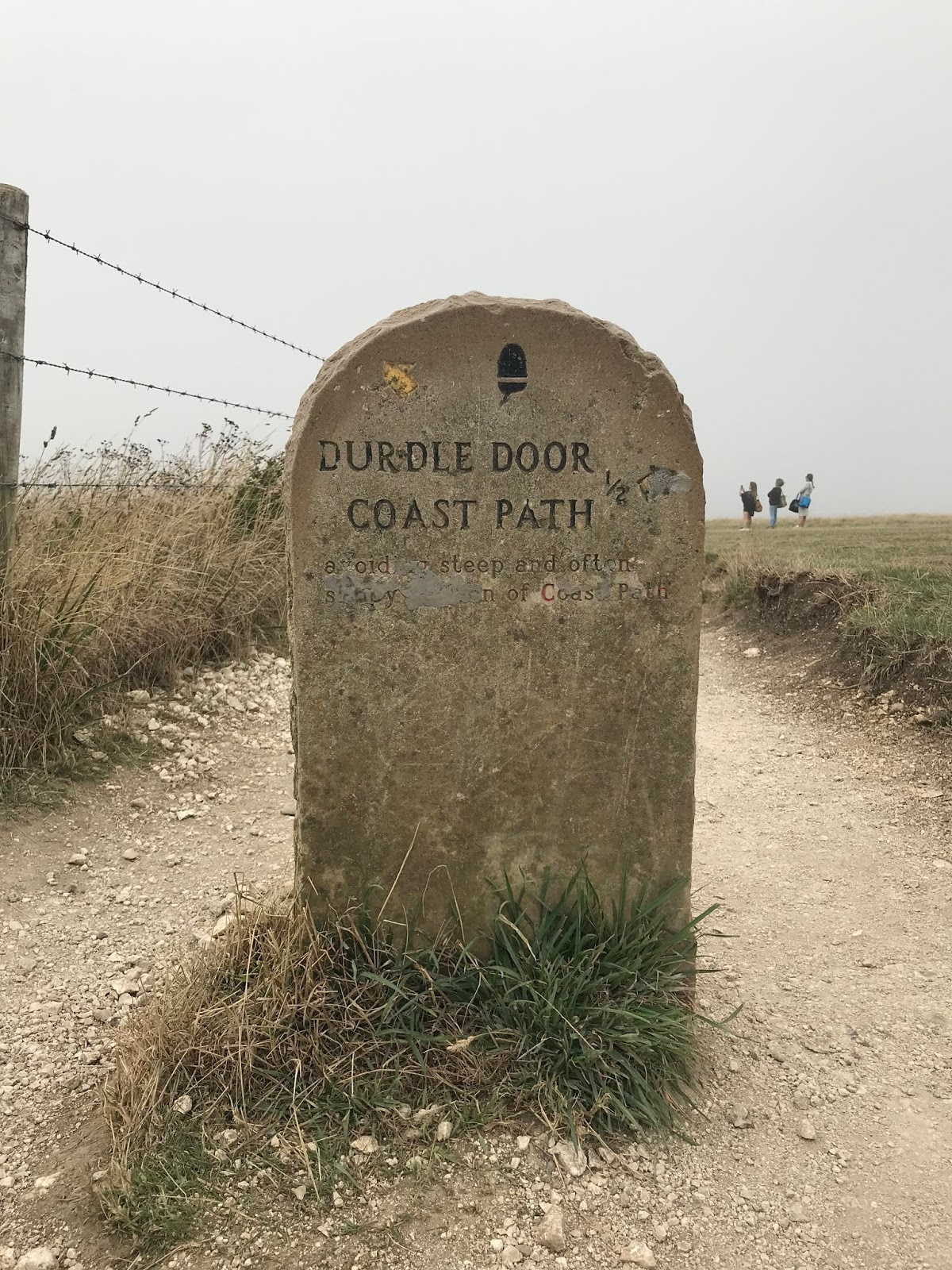 Jurassic coastal path to Durdle Door