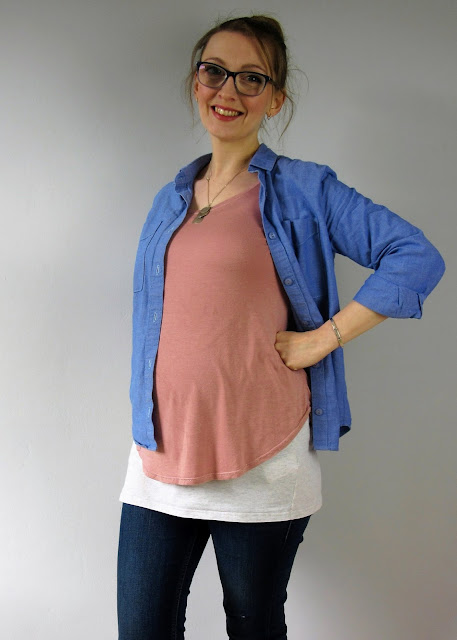 Blush cloned RTW tee via SEWN sewing blog.