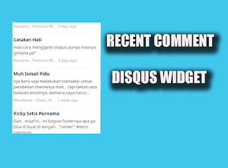 recent comment widget blogger disqus