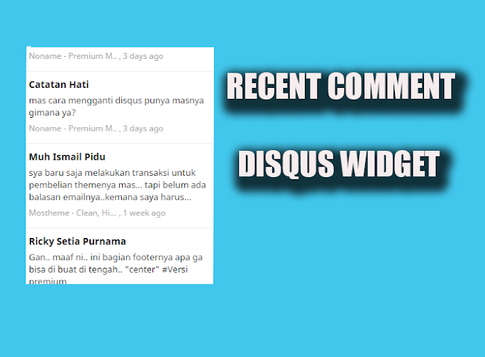 Widget Recent comment Disqus