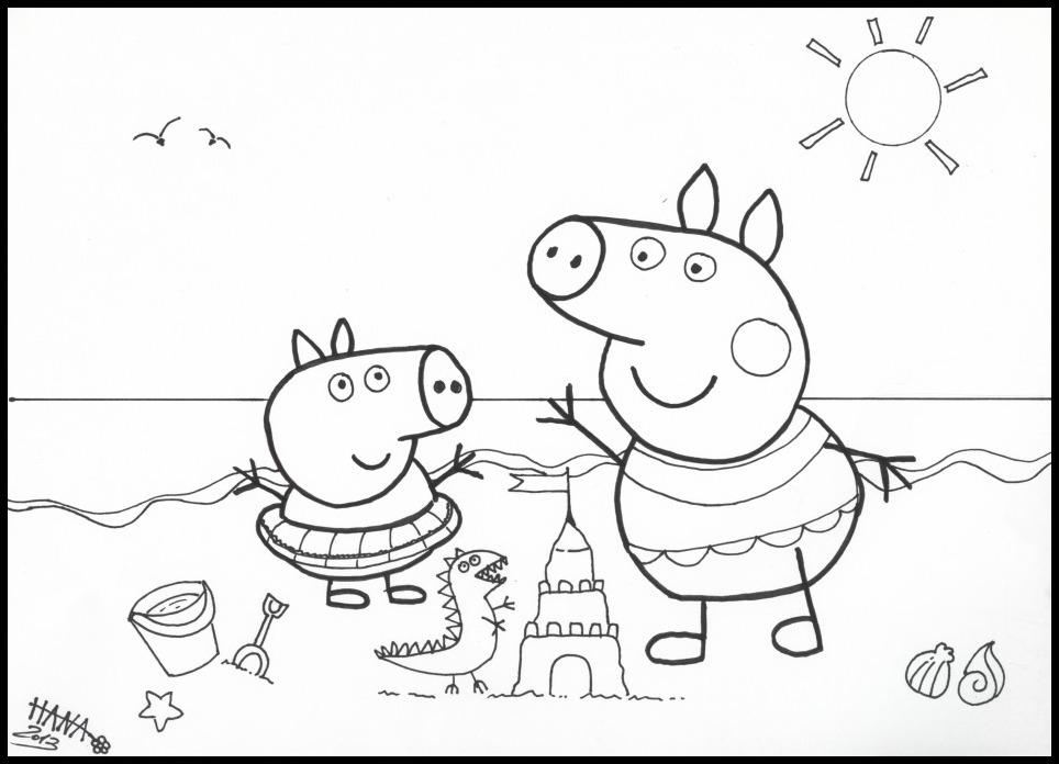 Jocuri Pentru Copii Mari şi Mici Fise De Colorat Cu Peppa Pig