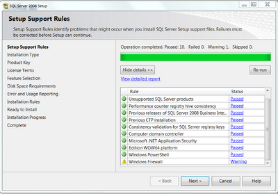 SSMS rules validation