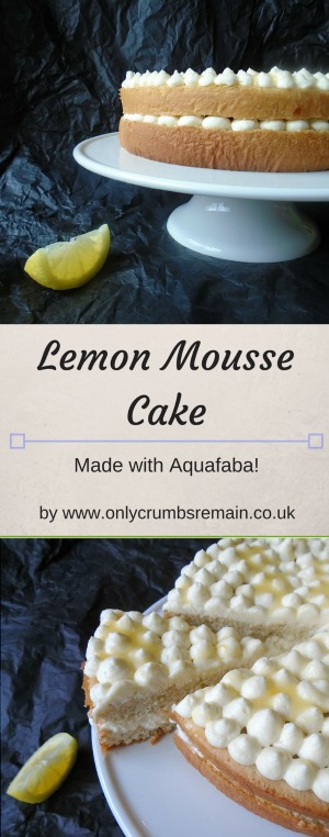 This lemon mousse cake is a delicate & airy genoise birthday cake which was brought to life with lashings of lemon curd held within the light mousse.  Being made with aquafaba, the delicious lemon mousse is free of raw eggs making it safe for many groups in our communities