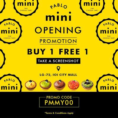 Pablo Cheesetart Malaysia Buy 1 Free 1 Mini Promo Code