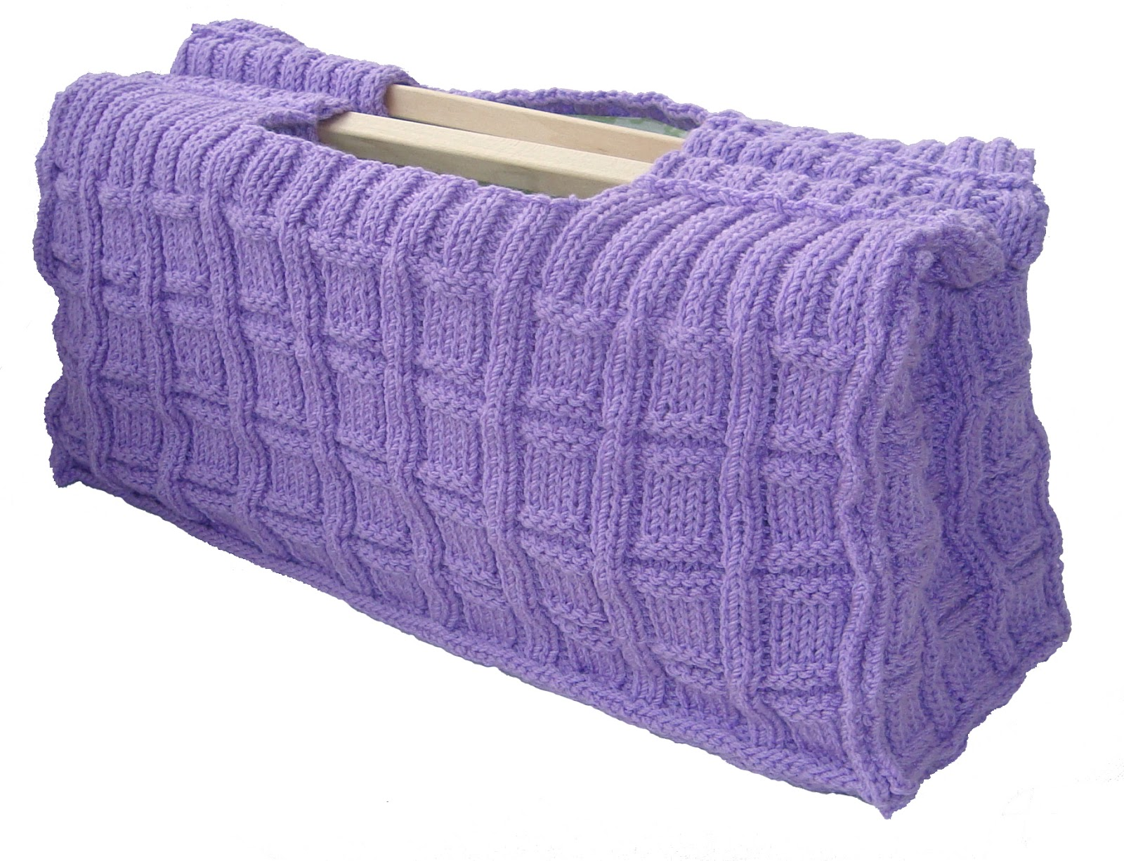 Knitting and Sewing Craft Project Bag. PDF Hand Knitting Pattern.