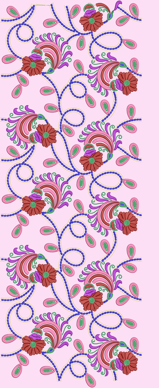 Embdesigntube Indian Towels Embroidery Designs
