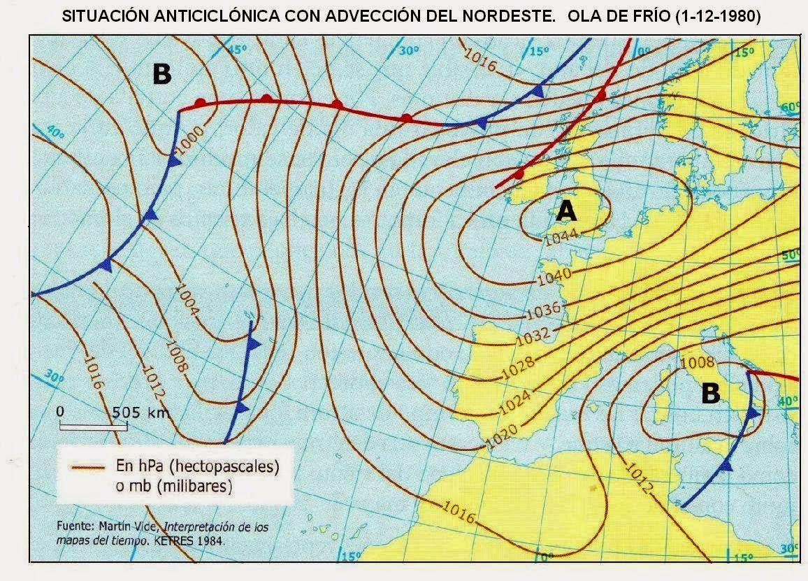 Mapa De Isobaras Europa.Antonio Alonso Espana Geografia Comentario De Mapas