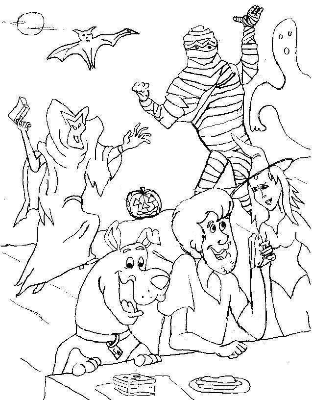 scooby doo halloween coloring pages 2