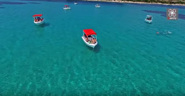 "Blue Lagoon: Όταν η Καραϊβική ""υποκλίνεται"" στη Χαλκιδική (βίντεο drone)"