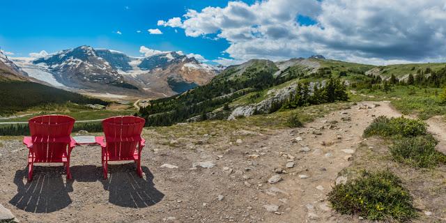Wilcox Pass Trail med udsigt til Athabasca-gletsjeren i Jasper National Park.