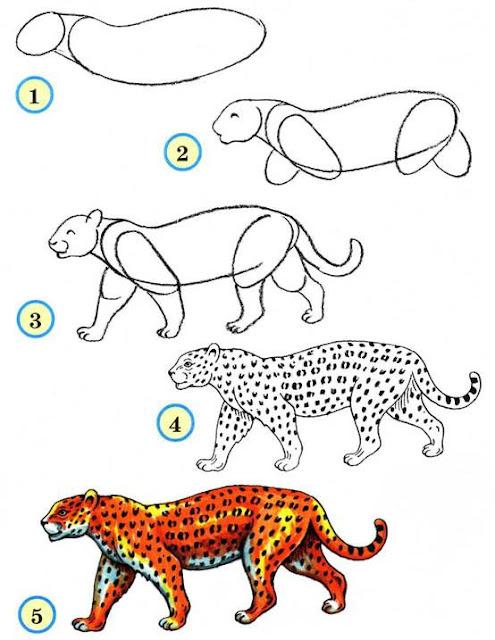 Рисунок Леопарда общий