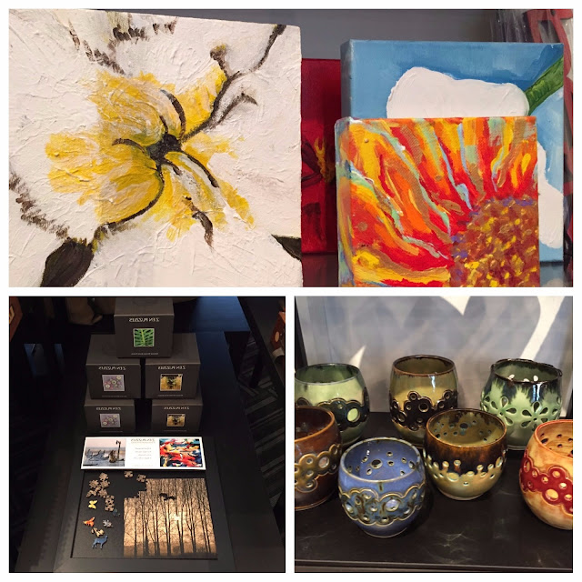 Paintings, pottery and puzzles at Colored Squid Gallery
