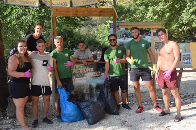 Εθελοντές της Αcheron Αctions καθάρισαν το φαράγγι του Αχέροντα και την παρόχθια ζώνη