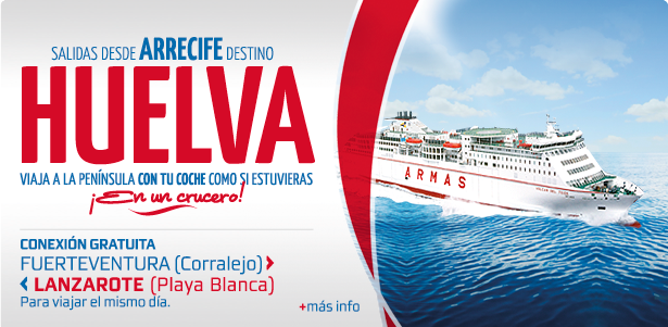 Naviera Armas alarga a 35 horas el viaje Tenerife-Huelva, pasando por Lanzarote