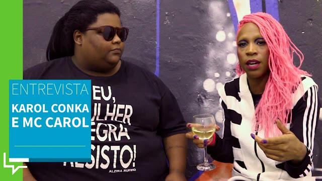 """Perguntado do porque é difícil falar sobre racismo no Brasil, Karol Conka diz: """"É perigoso falar a verdade no Brasil"""""""