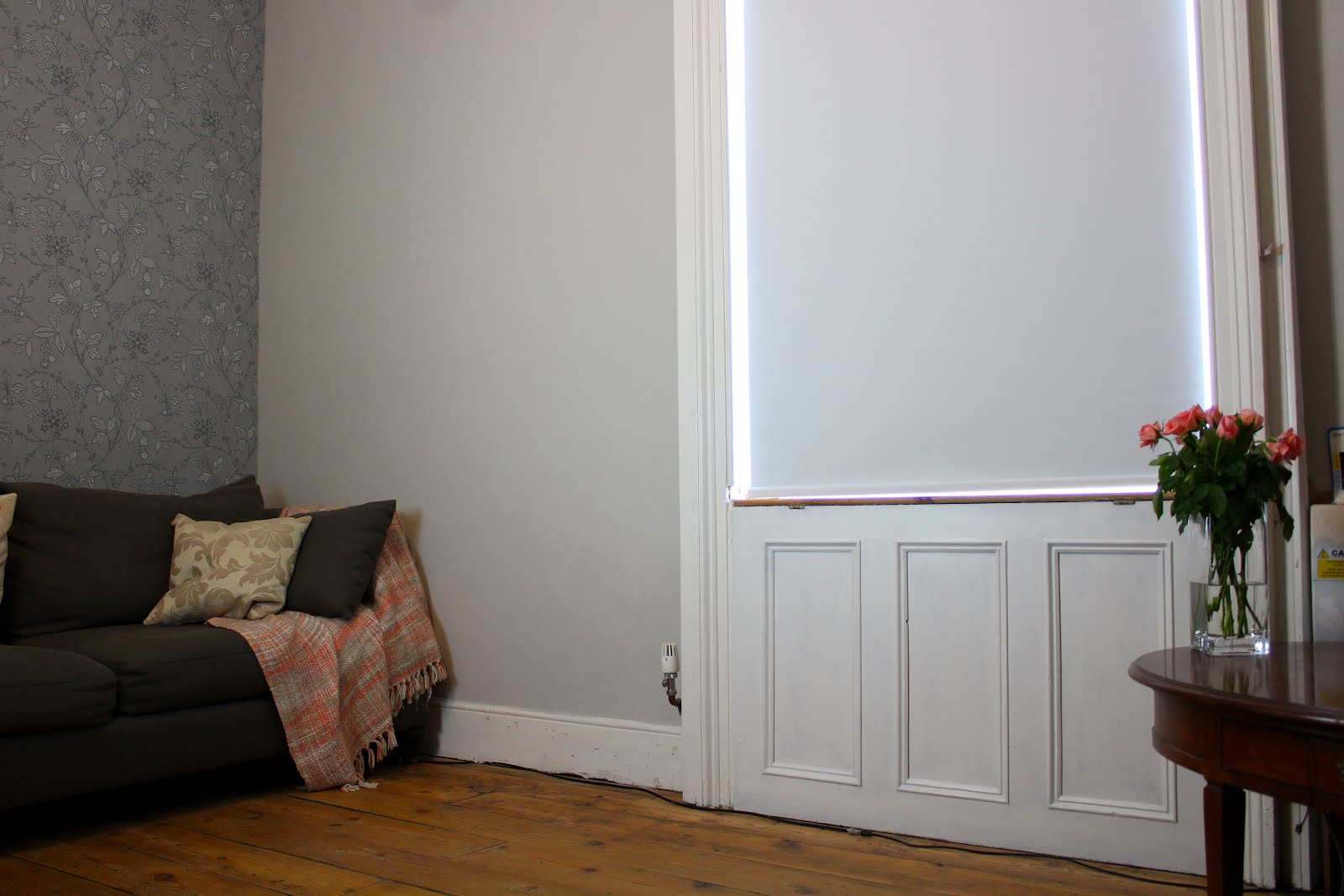 Black Out Electric Blind in Living Room