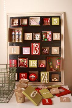 calendario adviento fácil cajas