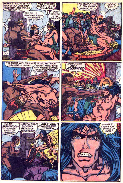 Conan the Barbarian v1 #6 marvel comic book page art by Barry Windsor Smith