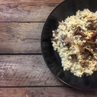 coquillettes comté fromage chanterelles champignon facile rapide simple cuisine régressive recette