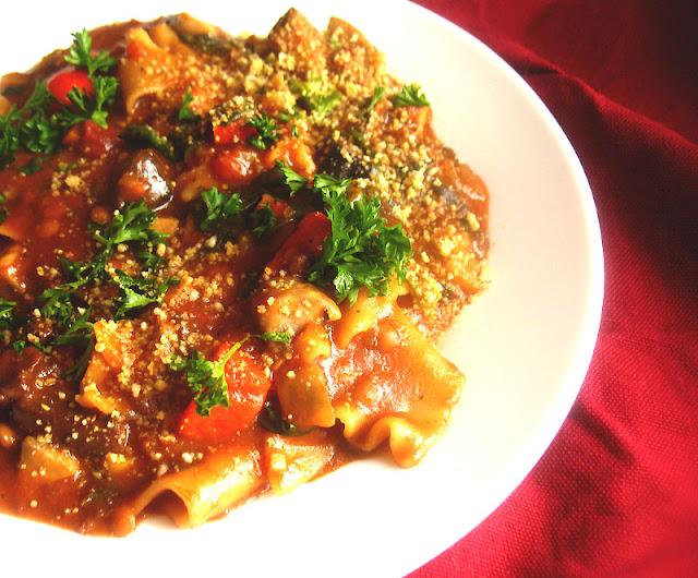 Vegetarian Mushroom Lasagna Soup