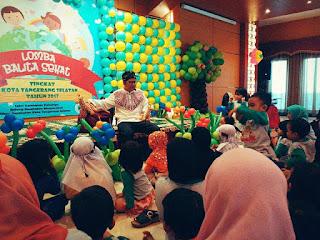 Kak Tony Mendongeng di Lomba Balita Sehat Kota Tangerang Selatan