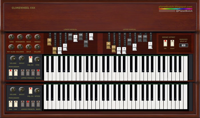 The Clonewheel VXK freeware VST organ plugin