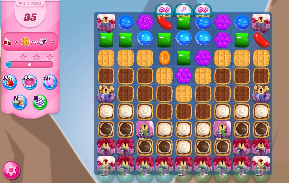 Candy Crush Saga level 7302