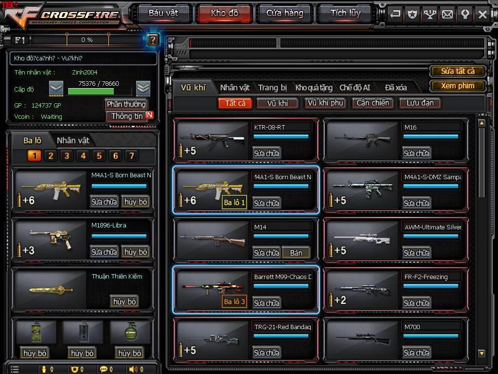M4 BBNG + 3Z Chaos + Nhiều báu vật khác.