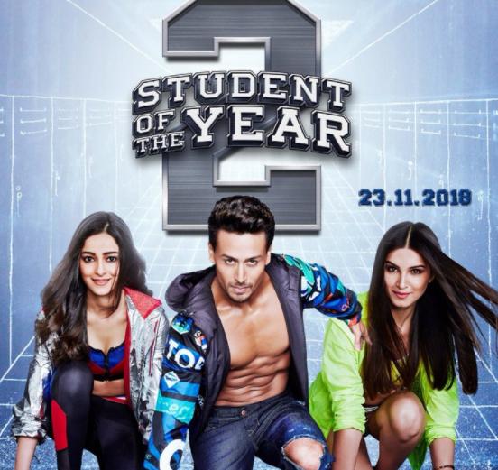 Karan Johar's launched Student of the year 2 Poster welcoming Tiger Shroff Ananya and Tara