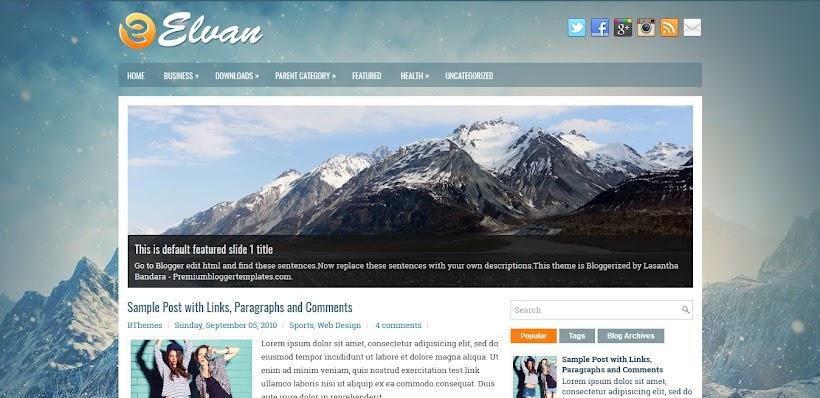 Elvan Free Blogger Template