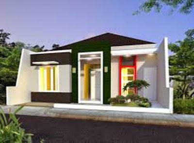 model rumah sederhana di pedesaan modern