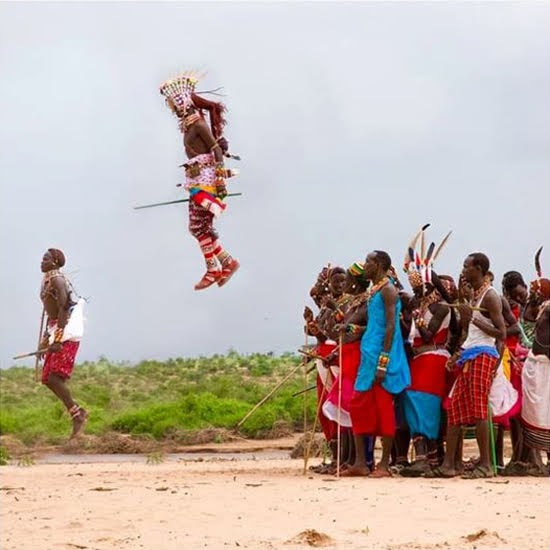 Safari Fusion blog | Jump, jump | Samburu warriors via The Safari Collection on Instagram