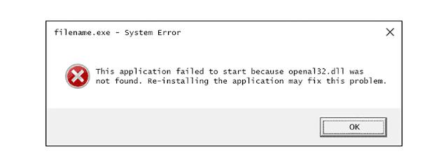 كيفية إصلاح اخطاء Openal32.dll Not Found or Missing
