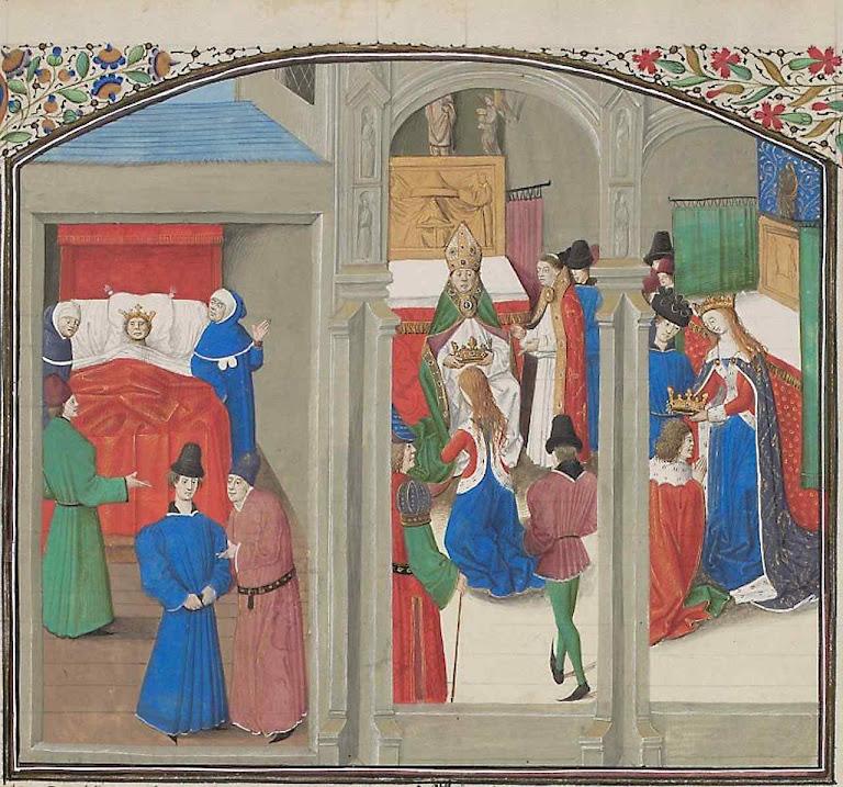Morte de Balduino IV e coroação de Guy de Lusignan, Biblioteca de Genebra, FAL_021866