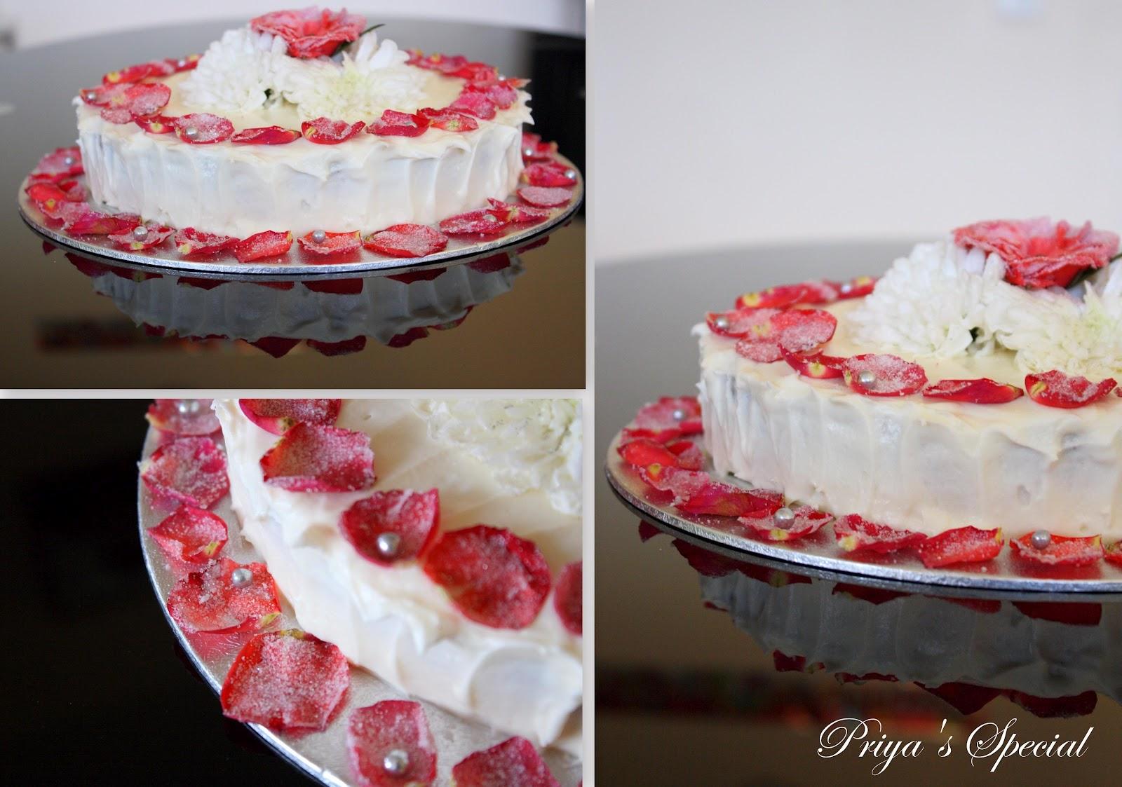 Cook Like Priya Rose Cake For A Wonderful Husband