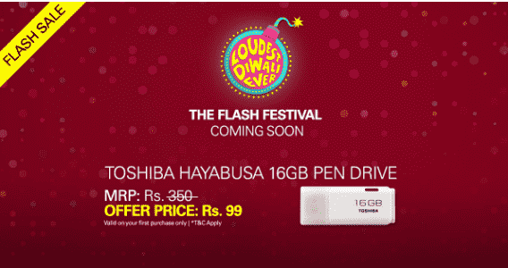 toshiba pendrive at 99 on ebay flash sale