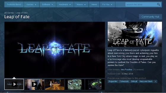 Leap Of Fate STEAM