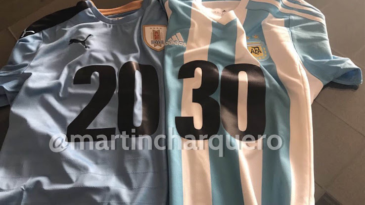 2cdd8efac Messi   Suárez to Sport Special Shirts In Support Of Argentina   Uruguay s  Joint 2030 World Bid