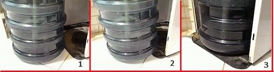 Dispenser galon bawah tanpa slider tempat dudukan galon