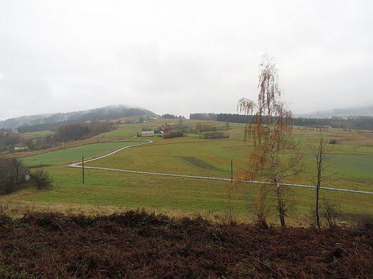 Widok na Łyżkę ze stoku Kuklacza II.