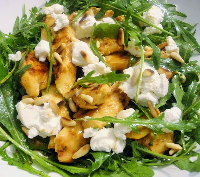 Chicken Breast, Rocket Leaves, Goat Cheese, Pine Nuts, Recipe