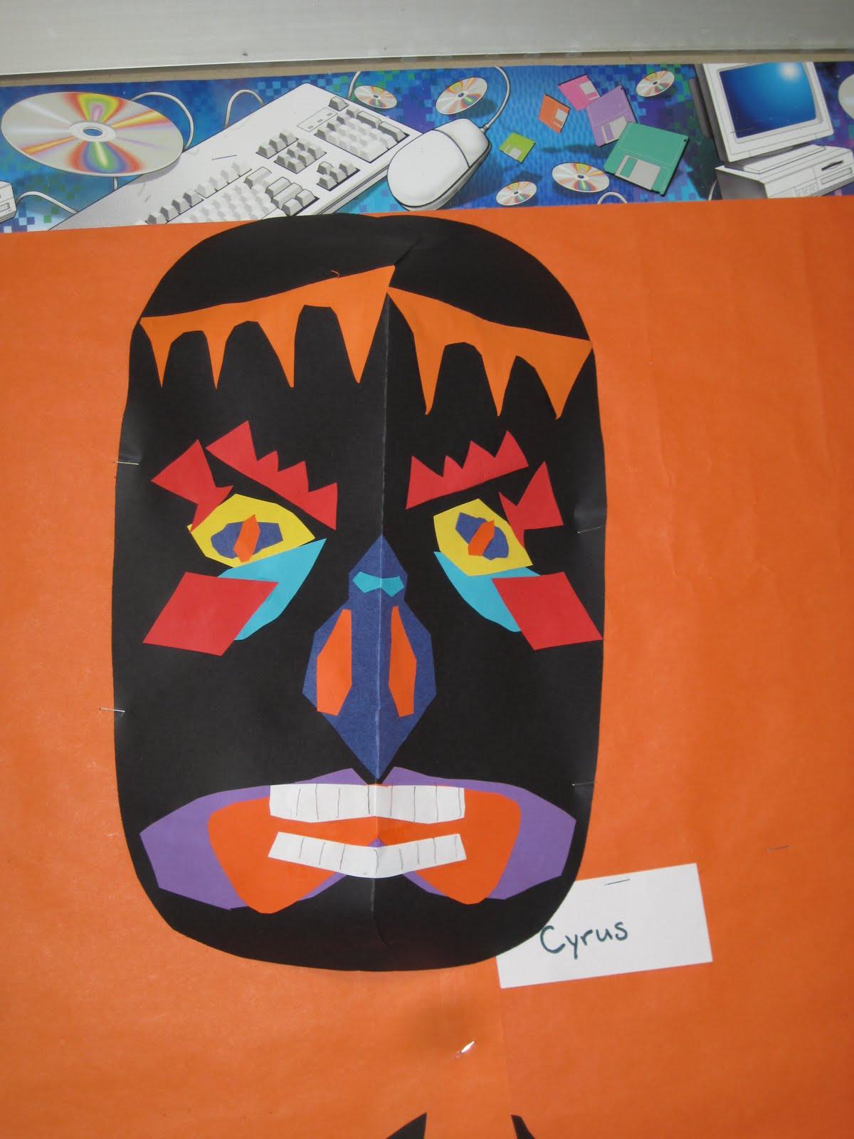 Lines Dots And Doodles Symmetrical Masks 3rd Grade