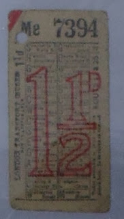One of the bus tickets found in Engelbertus Fukken's possession after his death. (National Archives KV 2/114)