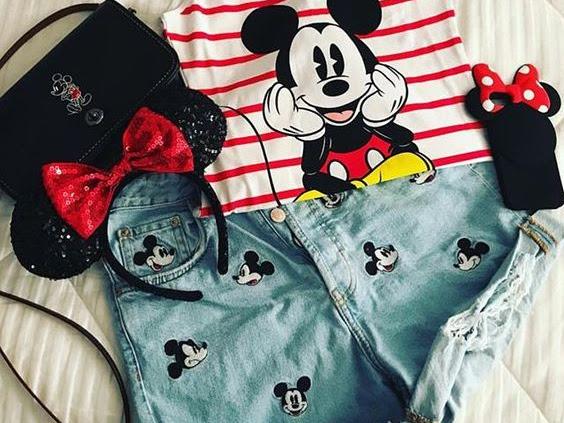 Tendências - Minnie e Mickey Outfits