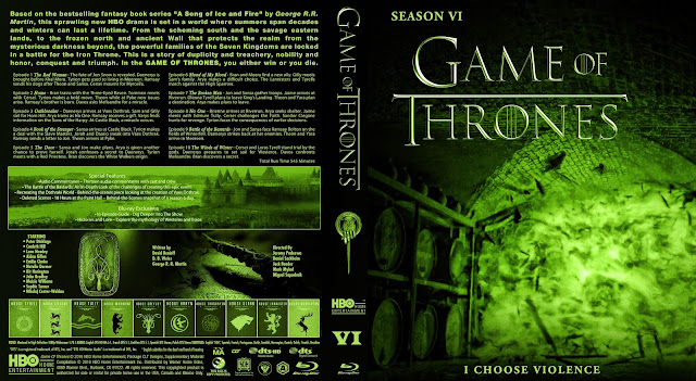 Capa Bluray Game Of Thrones Sexta Temporada Completa