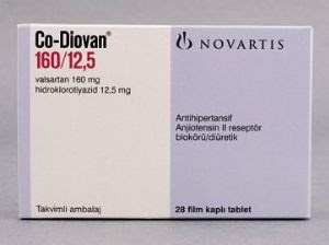 CO-DIOVAN 160/25 mg Film Tablet