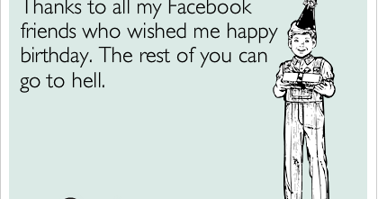 Funny Thank You Status Messages For Birthday Wishes On Facebook Thank You