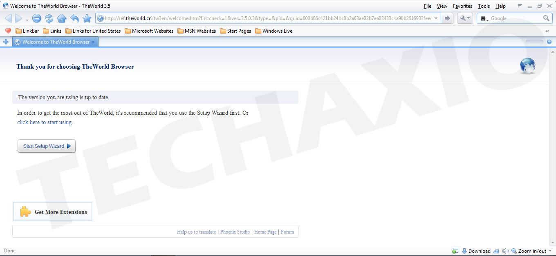 TheWorld Browser Screenshot