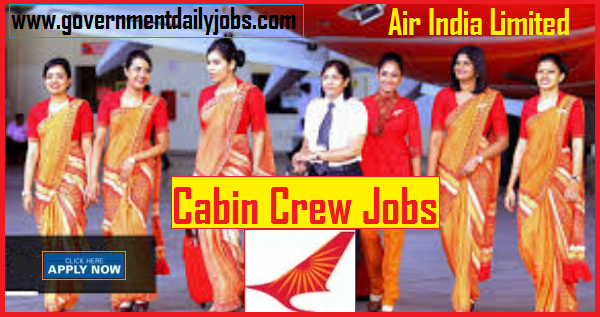 Air India Cabin Crew (Male and Female) Notification 2019
